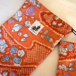 Housse  zori tissu japonais KIMONO