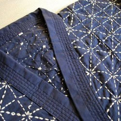 jacket kendo blue musashi embroider
