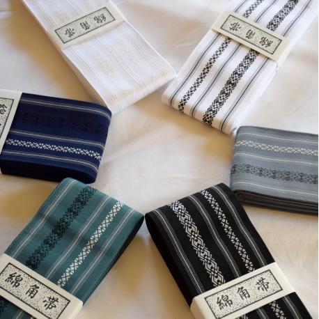 Obi ceinture Iaido-Kaku obi-coton