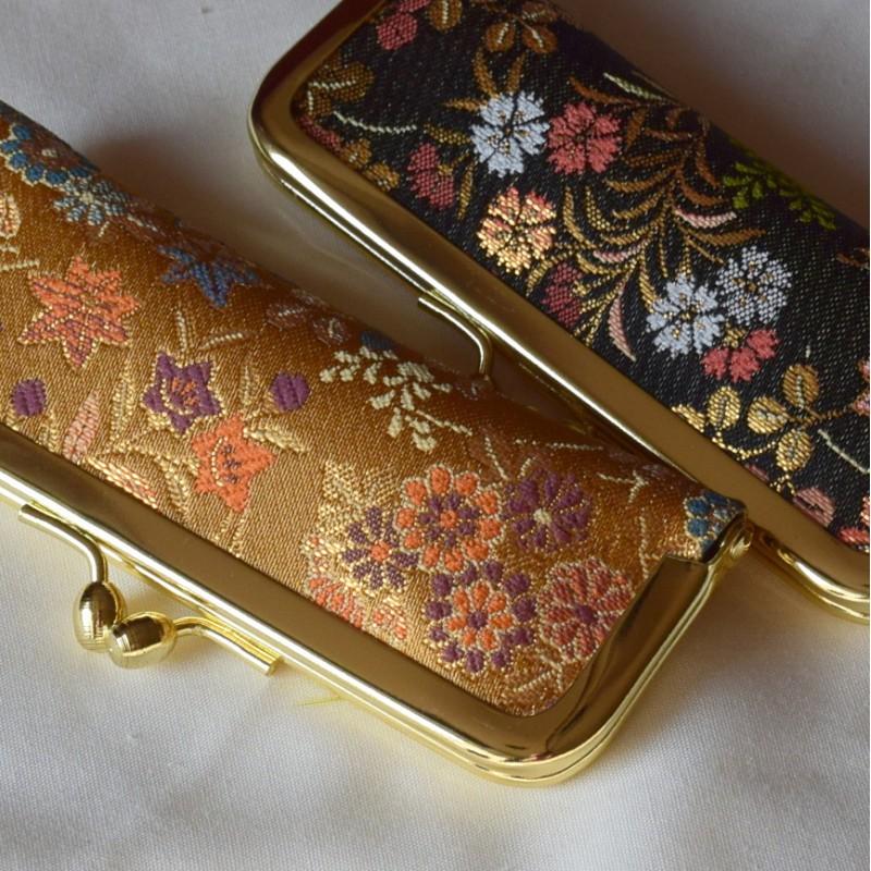 Japanese stamp case - hanko or inkan - in Kimono fabric from Nishijin
