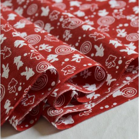 Tenugui Kingyo Rojo kendo tela japonesa