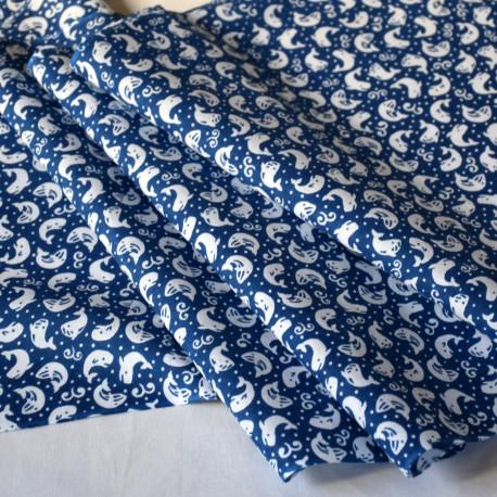 Tenugui KUJIRA blue