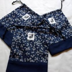 Housse  ZORI tissu japonais SAKURA Bleu
