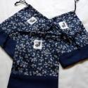 Zori Bag japanese fabric SAKURA Blue