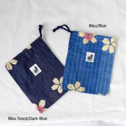 Passport Bag japanese fabric SAKURA YUKATA