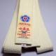 Cinturón de Aikido - Iwata color crudo y blanco